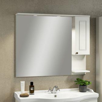 Зеркало-шкаф Comforty Севилья 100 слоновая кость