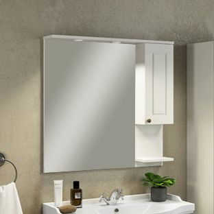 Зеркало-шкаф Comforty Севилья 85 слоновая кость