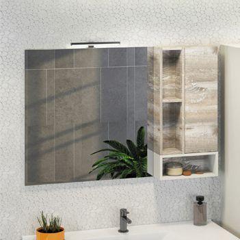 Зеркало-шкаф Comforty Турин 120 дуб бежевый