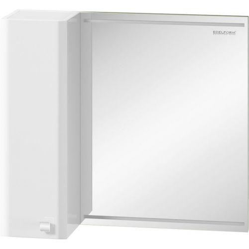 Зеркало-шкаф Edelform Nota 75 белое, с подсветкой