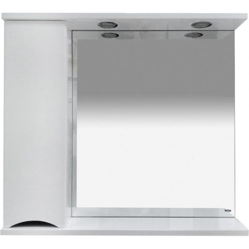 Зеркало-шкаф Misty Элвис 85 L белый