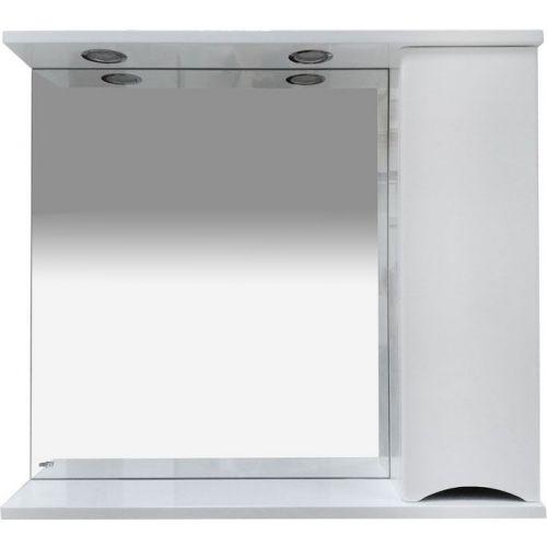Зеркало-шкаф Misty Элвис 85 R белый