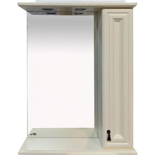 Зеркало-шкаф Misty Лувр 60 R слоновая кость