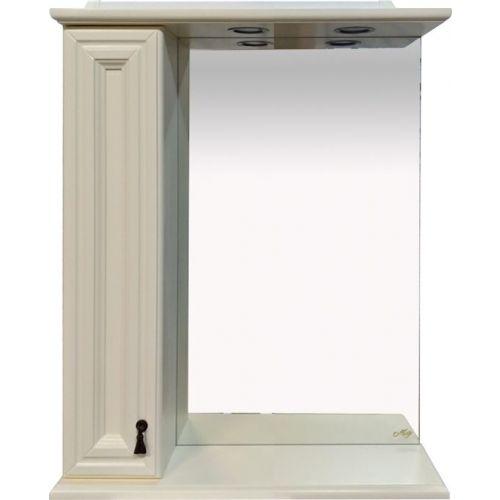 Зеркало-шкаф Misty Лувр 65 L слоновая кость