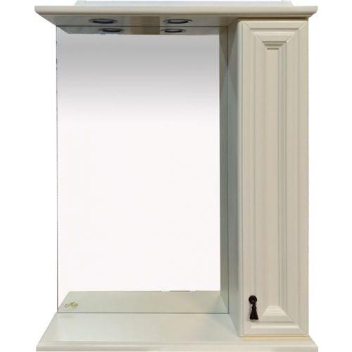 Зеркало-шкаф Misty Лувр 65 R слоновая кость