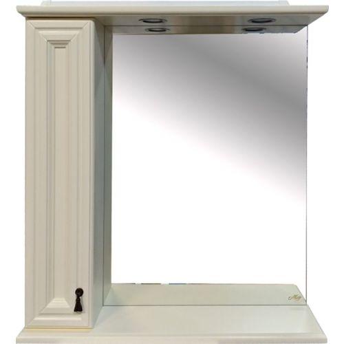 Зеркало-шкаф Misty Лувр 75 L слоновая кость