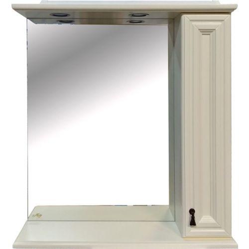Зеркало-шкаф Misty Лувр 75 R слоновая кость
