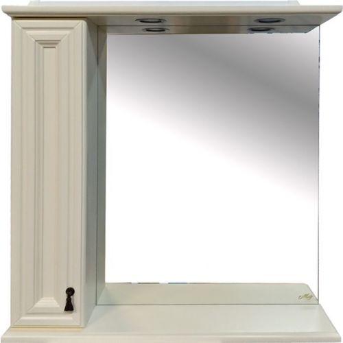 Зеркало-шкаф Misty Лувр 85 L слоновая кость