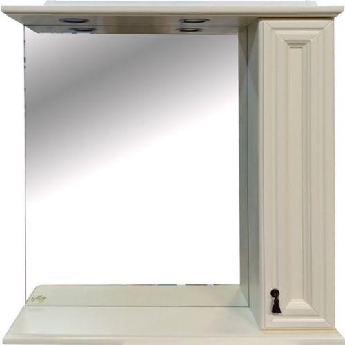 Зеркало-шкаф Misty Лувр 85 R слоновая кость