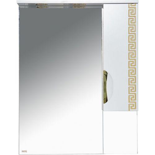 Зеркало-шкаф Misty Престиж 70 R золотая патина