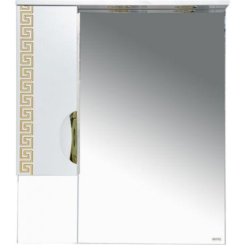 Зеркало-шкаф Misty Престиж 80 L золотая патина