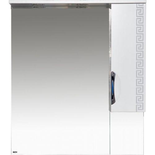 Зеркало-шкаф Misty Престиж 80 R серебряная патина