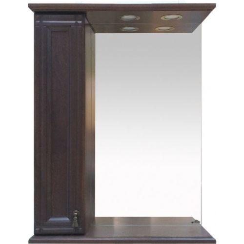 Зеркало-шкаф Misty Рим 65 L орех