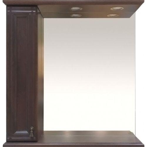 Зеркало-шкаф Misty Рим 85 L орех