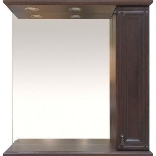 Зеркало-шкаф Misty Рим 85 R орех