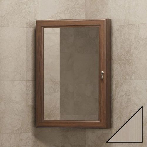 Зеркало-шкаф Opadiris Клио 45 L угловой, беленый бук
