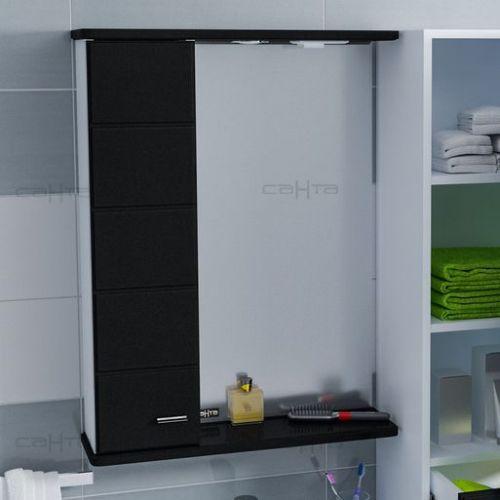 Зеркало-шкаф СанТа Омега 60 L черное
