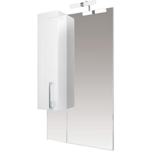 Зеркало-шкаф Triton Диана 60 L с подсветкой, удлиненный, белый