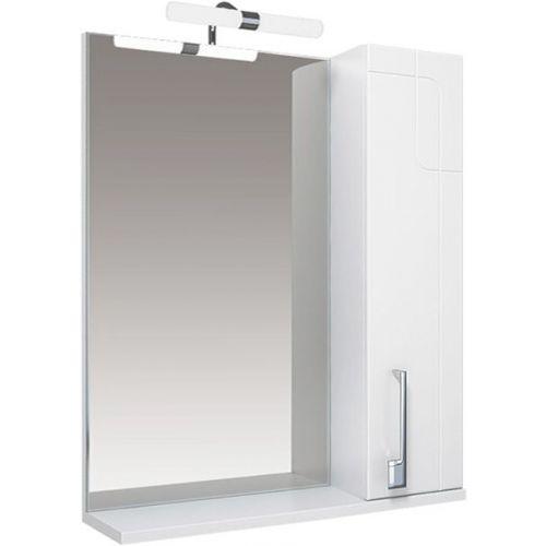 Зеркало-шкаф Triton Диана 70 R, с подсветкой, белый