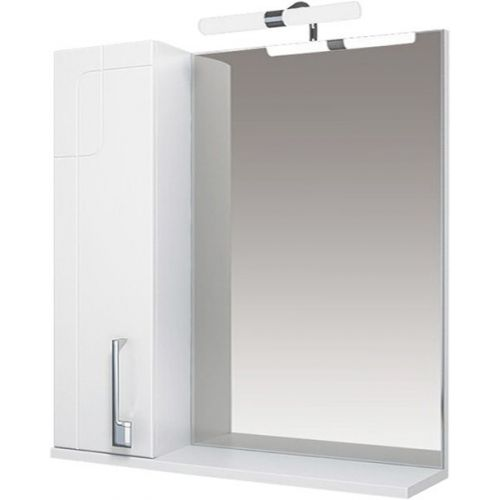 Зеркало-шкаф Triton Диана 80 L, с подсветкой, белый