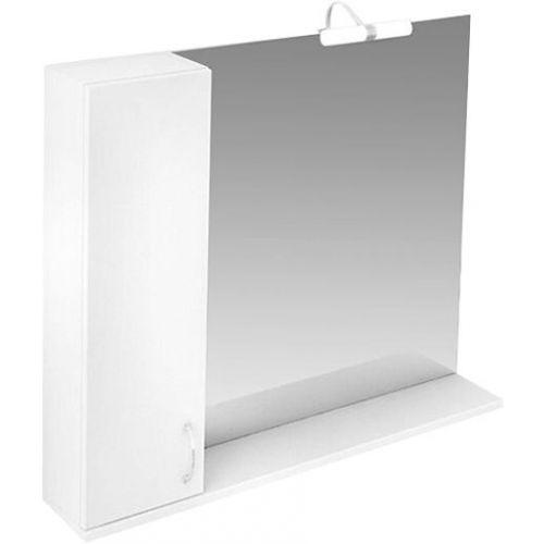 Зеркало-шкаф Triton Джуно 100 L с подсветкой, белый