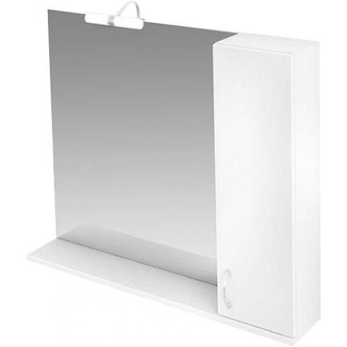 Зеркало-шкаф Triton Джуно 100 R с подсветкой, белый