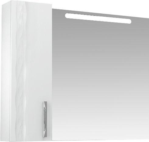 Зеркало-шкаф Triton Кристи 100 L с подсветкой, белый