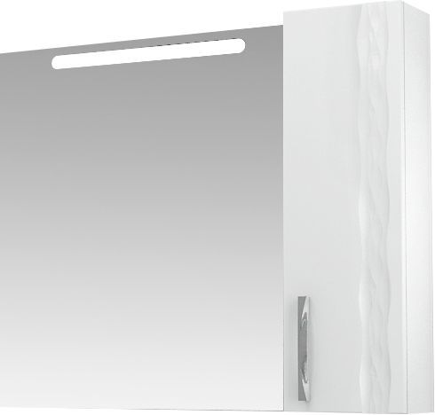 Зеркало-шкаф Triton Кристи 100 R с подсветкой, белый