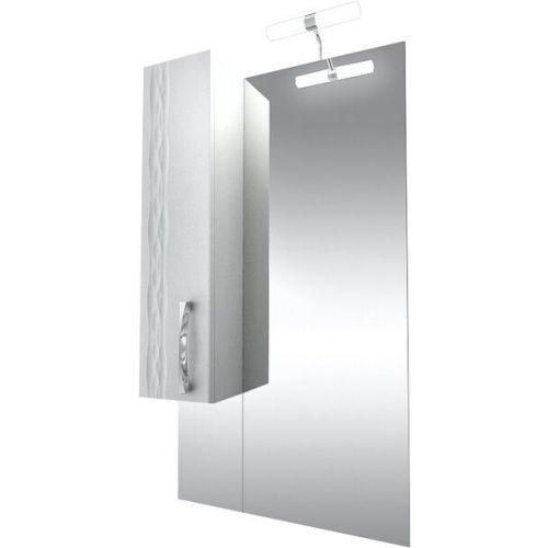 Зеркало-шкаф Triton Кристи 60 L с подсветкой, удлиненный, белый