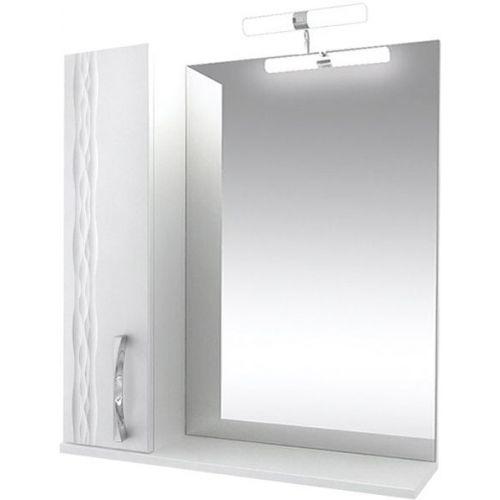 Зеркало-шкаф Triton Кристи 80 L с подсветкой, белый