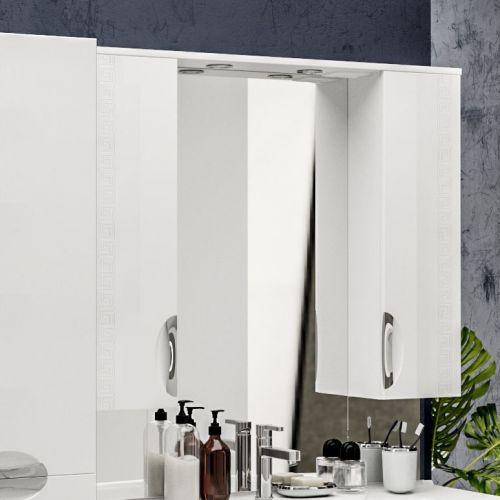 Зеркало-шкаф ValenHouse Ривьера 100 фурнитура хром