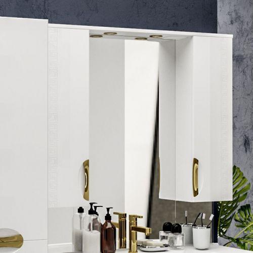Зеркало-шкаф ValenHouse Ривьера 100 фурнитура золото