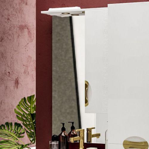 Зеркало-шкаф ValenHouse Ривьера 60 фурнитура золото