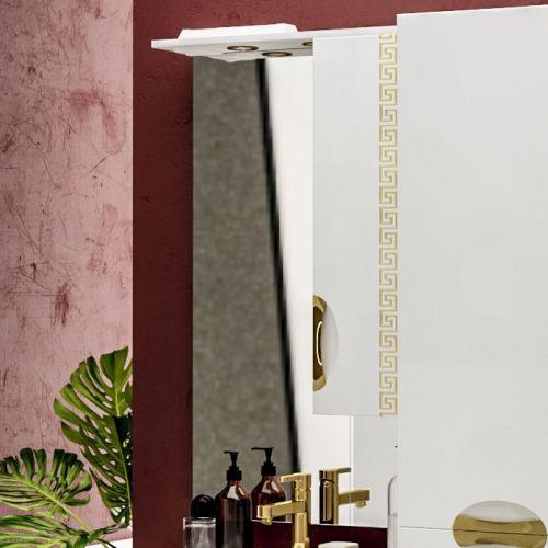 Зеркало-шкаф ValenHouse Ривьера 60 патина золото, фурнитура золото