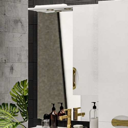 Зеркало-шкаф ValenHouse Ривьера 70 фурнитура золото