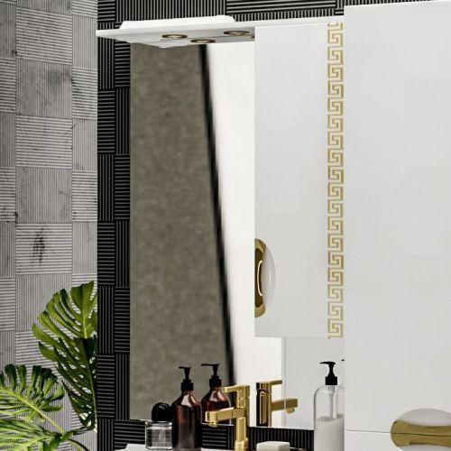 Зеркало-шкаф ValenHouse Ривьера 70 патина золото, фурнитура золото