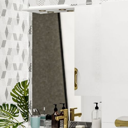 Зеркало-шкаф ValenHouse Ривьера 80 фурнитура золото