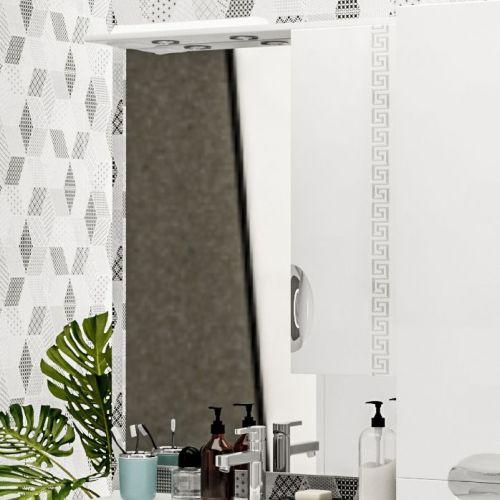 Зеркало-шкаф ValenHouse Ривьера 80 патина серебро, фурнитура хром