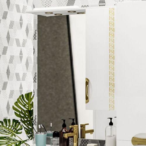Зеркало-шкаф ValenHouse Ривьера 80 патина золото, фурнитура золото