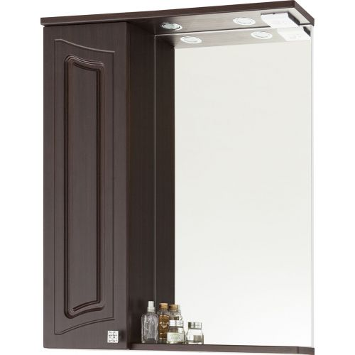 Зеркало-шкаф Vod-Ok Адам 65 L, венге