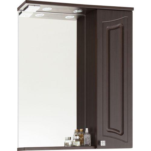 Зеркало-шкаф Vod-Ok Адам 65 R, венге