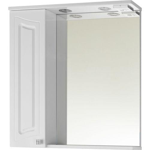 Зеркало-шкаф Vod-Ok Адам 75 L, белый