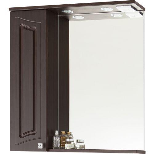 Зеркало-шкаф Vod-Ok Адам 75 L, венге