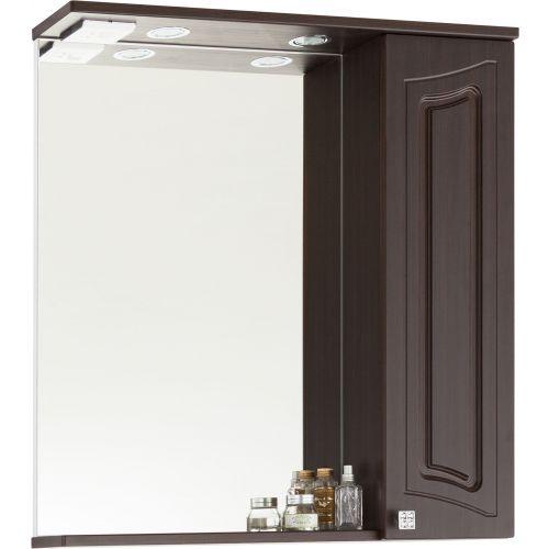 Зеркало-шкаф Vod-Ok Адам 75 R, венге