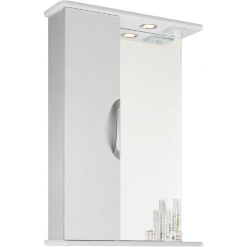 Зеркало-шкаф Vod-Ok Лира 55 L, белый