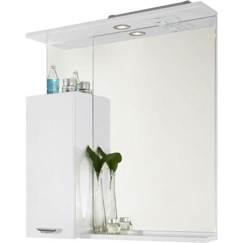 Зеркало-шкаф Vod-Ok Марко 75 L, белый