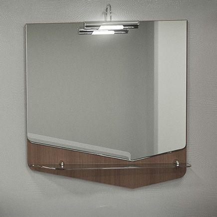 Зеркало Velvex Crystal Cub 70 темный лен