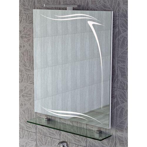 Зеркало Vigo Olivia 70 с подветкой и полочкой
