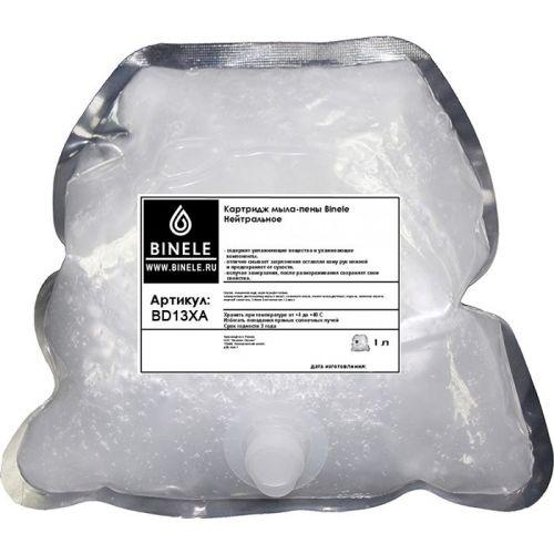 Жидкое мыло Binele BD13XA нейтральное мыло-пена (Блок: 2 картриджа по 1 л) без помпы