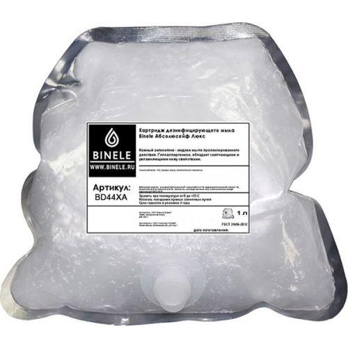 Жидкое мыло Binele BD43XA Абсолюсейф Люкс (Блок: 6 картриджей по 1 л) с помпой